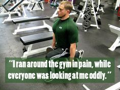 """""""I ran around the #gym in #pain, while everyone was #looking at me #oddly."""" #quote #unlucky #Friday #13th #misfortune"""