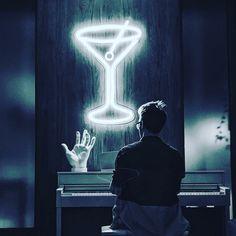 """LED neon sign """"Glass of Martini"""" Custom Neon Signs, Led Neon Signs, Home Signs, Wedding Signs, Martini, Etsy Seller, Glass, Handmade Gifts, Vintage"""