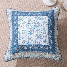 August Grove Francis Floral Patchwork Elegance Cotton Pillow Cover