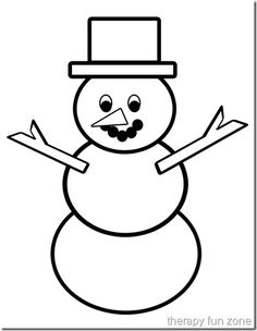 snow man finished copy Preschool Christmas Crafts, Holiday Crafts For Kids, Snowman Crafts, Preschool Winter, Winter Craft, Kids Crafts, Easy Drawings For Kids, Drawing For Kids, Cute Drawings
