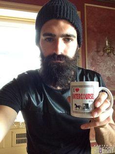 Joel Alexander..** Joel Alexander, Bearded Men, Cute Boys, Writing, Mugs, Beards, Couple, Awesome, Men Beard