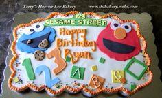 sesame street cupcake cake By thlbakery on CakeCentral.com