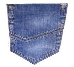 jeans pocket isolated photo