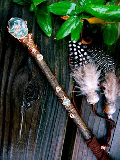 Healing Faery Orb Willow Wand by EireCrescent
