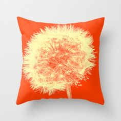 Warhol Inspired Dandelion Pillow Cover by KEnzPhotography on Etsy, $36.00
