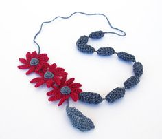 Necklace Strawberry Blossom by lesfrotteurs on Etsy, €29.00