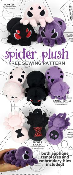 Most recent Photographs Sewing patterns stuffed animal Concepts Choly Knight Plushie Patterns, Animal Sewing Patterns, Sewing Patterns Free, Free Sewing, Free Pattern, Softie Pattern, Doll Patterns, Sewing Stuffed Animals, Stuffed Animal Patterns