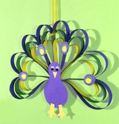 construction paper peacock