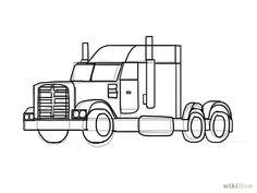 Afbeeldingsresultaat voor kleurplaat vrachtwagen scania