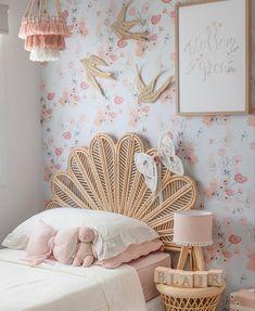 Baby Bedroom, Room Decor Bedroom, Girls Bedroom, Bamboo Bed Frame, Casa Kids, Big Girl Rooms, Fashion Room, Decoration, Kids Room