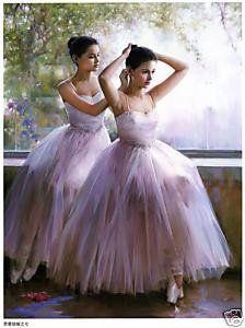 Art portrait oil painting two beautiful Ballet dance Ballerina Kunst, Ballerina Painting, Ballet Art, Ballet Dancers, Ballerinas, Tutu, Ballet Images, Ballet Photography, Ballet Beautiful