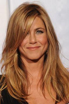 Jennifer Aniston Hairstyles: Blonde Medium Straight Hair | Popular Haircuts