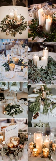 62 Best Winter Wedding Centerpieces Images Winter Wedding