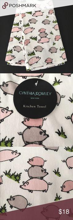 ⭐️FINAL SALE⭐️Cynthia Rowley Kitchen Towels Flower NWT | Warm, Ea And  Flowers