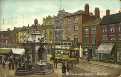 DudleyMall - Pictures of Old Dudley - Dudley Market Place Victorian London, Thanks For The Memories, West Midlands, Old Pictures, Ancestry, Family History, Birmingham, Nostalgia, England