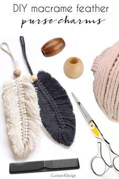 Great No Cost Macrame diy purse Tips macrame feather purse charms Macrame Purse, Macrame Art, Macrame Knots, How To Macrame, Diy Purse Tassel, Macrame Thread, Macrame Mirror, Macrame Curtain, Mason Jar Crafts