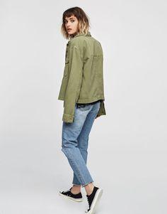 Surchemise poches - Blouses et chemises - Vêtements - Femme - PULL&BEAR France