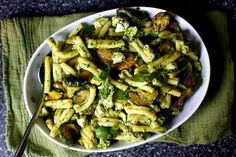ottolenghi's amazing pasta and fried zucchini salad | http://smittenkitchen.com