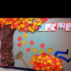Fall hallway decorations - paper!