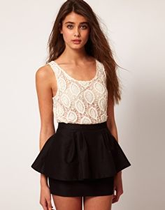 Enlarge River Island Lace Tank Top (loving the entire outfit!!)