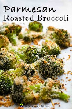 Roasted Broccoli with Garlic and Parmesan Cheese is simple and healthy side dish. Perfectly crisp and roasted on the edges , with bits of crunchy bread crumbs. Roasted Broccoli with Garlic and Parmesan Cheese is so full of flavour, that you may just want to eat it as snack instead of side dish. Roasted Broccoli Recipe, Steamed Broccoli, Broccoli Recipes, Spicy Recipes, Vegetarian Recipes, Healthy Sides, Healthy Side Dishes, How To Cook Broccoli, Recipe Generator