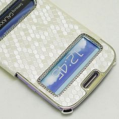 White Luxury Synthetic Leather Flip Case Cover for Samsung Galaxy SIII S3 | eBay
