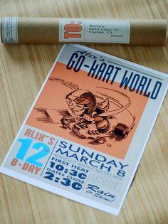 go-kart poster for a