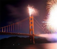 Fireworks burst over the Golden Gate Bridge as part of the span's 75th anniversary celebration on Sunday, May 27, 2012, in San Francisco.