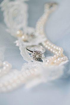 Heirloom Pearl Wedding Jewelry - Preppy and Classic Kelly Green Wedding