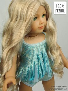 """Ice Princess: Swim & Skate Stretch Fabric and Sparkling Trim Kit for 18"""" Dolls (FREE Priority Shipping)"""