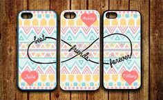 3 iPhone 5 5S case, iPhone 4 4S case, Samsung Galaxy S3 S4 Case Monogram Best friends Forever BFF Infinity personalized Protective Case