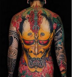 Great collcetion of Japanese Mask Tattoo designs ideas of 2019 for men and women to japan tattoo lover people. Mask Japanese, Japanese Mask Tattoo, Japanese Tattoos For Men, Japanese Tattoo Designs, Japanese Tiger, Japanese Art, Body Tattoo Design, Full Body Tattoo, Body Art Tattoos