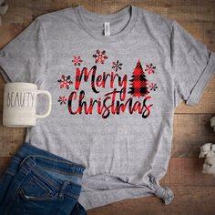Christmas Tree Pattern, Christmas Svg, Plaid Christmas, Cute Christmas Shirts, Christmas Decals, Christmas Fashion, Christmas 2019, Christmas Trees, Xmas