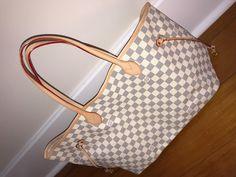 23a7691cada3 Neverfull Style Canvas Woman Organizer Handbag Azur Tote Shoulder Fashion  Bag GM Size by LAMB