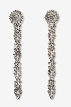 Drop everything (or don't) in these antiqued silver earrings.