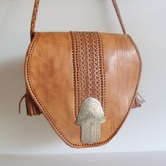 Vintage Leather Tooled Purse