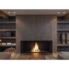 Not Your Average Fireplace! ❤ liked on Polyvore featuring rooms, fireplace, interior, backgrounds and empty rooms