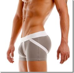 Enhancer boxer with metal studs. This innovative design, with the fixed jockstrap, will boost back and front making you look in perfect shape!