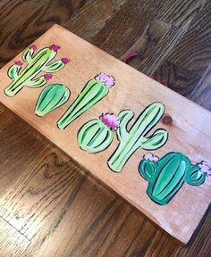 Cactus Succulent Desert Teacher School Classroom Custom Wreath Wooden Sign Door hanger On Sale and Ready to Ship! Cactus Decor, Cactus Art, Cactus Painting, Painting On Wood, Cactus Bedroom, Teacher Name Signs, Teacher Door Hangers, Wood Crafts, Diy Crafts