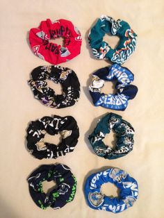 NFL Hair Scrunchies by SportzNutty on Etsy