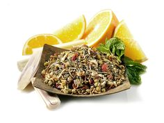 Tranquil Dream Herbal Tea  Contains: Rosehip peels, citrus peels, chamomile flowers, lemongrass, orange petals, hibiscus flowers, spearmint, flavoring (orange, vanilla, tangerine)