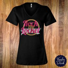 Rock The Locket Glitter Vneck Inspired by Origami by KaydonCreek, $34.00