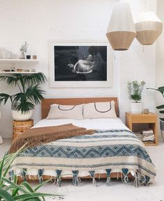 21+ Modern Bohemian Bedroom Inspiration. Do You Like The One With Cactus?