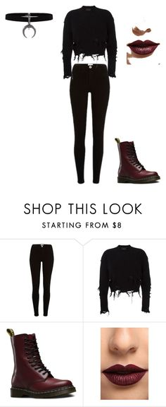 """Black is always in"" by amelicaa25 ❤ liked on Polyvore featuring adidas Originals, Dr. Martens and LASplash"