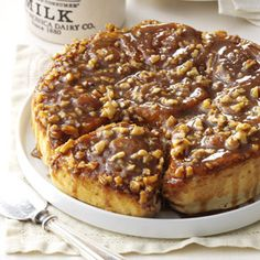 Cinnamon-Walnut Sticky Buns Recipe from Taste of Home -- shared by Debbie Broeker of Rocky Mount, Missouri