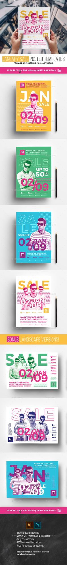 January Sale Poster Templates