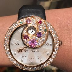 Bulgari Berries Automatic Jumping Hour Watch #bulgari #bulgariwatches #highjewelry #highjewellery #highjewellerywatch #watch