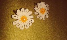 Margherite crochet earrings