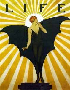 Life Cover by Coles Phillips(1880-1927). The first two decades of the 1900s saw dramatic changes in how artists portrayed American women in magazines and other media.