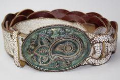 Vintage Look River Island Womans Belt Good Condition Retro Big Belt Buckle.